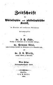 Zeitschrift für philosophie und philosophische Kritik: vormals Fichte-Ulricische Zeitschrift, Bände 37-38