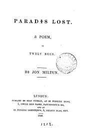 Paradis lost, a poem