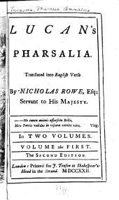 Lucan's Pharsalia: Volume 1