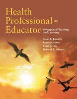 Health Professional as Educator PDF