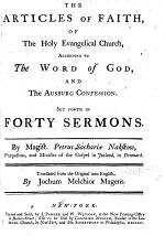 The Articles of Faith of the Holy Evangelical Church