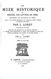 La muze historique; ou, Recueil des lettres en vers contenant les nouvelles du temps: 1659-1662
