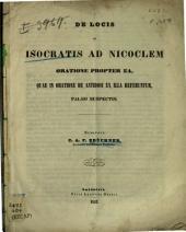 De locis in Isocratis ad Nicoclem oratione propter ea, quae in oratione de antidosi ex illa referuntur, falso suspectis