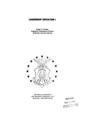 Leadership Education I PDF