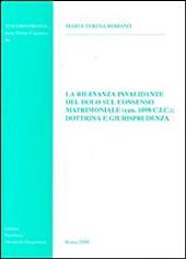 La rilevanza invalidante del dolo sul consenso matrimoniale (can. 1098 C.I.C.): dottrina e giurisprudenza
