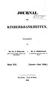 Journal für Kinderkrankheiten: Bände 14-15