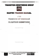 Transition Monitoring Group  TMG  Master Trainer Manual for Training of Nigerian Election Monitors 2003 PDF