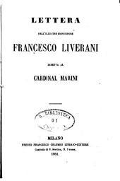 Lettera dell'illustre monsignore Francesco Liverani diretta al Cardinal Marini