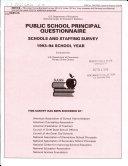 Public School Principal Questionnaire