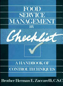 Food Service Management by Checklist