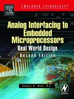 Analog Interfacing to Embedded Microprocessor Systems PDF