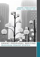 Grant Proposal Writing Business Format System PDF