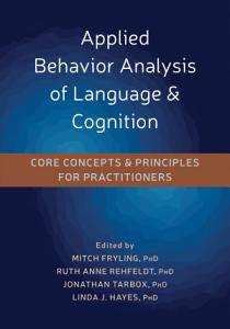 Applied Behavior Analysis of Language and Cognition Book