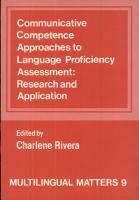 Communicative Competence Approaches to Language Proficiency Assessment PDF