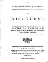 On the Licentiousness of the Tongue: A Discourse. By William Cooper, ...