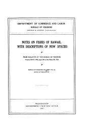 Notes on the Fishes of Hawaii: With Descriptions of New Species