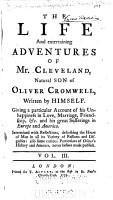 The Life and Entertaining Adventures of Mr  Cleveland  Natural Son of Oliver Cromwell PDF
