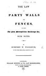 The Law of Party Walls and Fences PDF