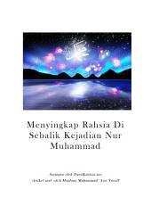 Menyingkap Rahsia Di Sebalik Kejadian Nur Muhammad