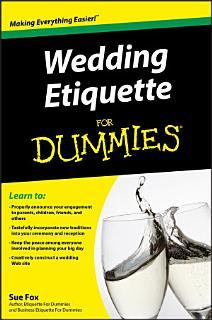 Wedding Etiquette For Dummies Book