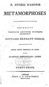 P. Ovidii Nasonis Metamorphoses: Tomvs prior