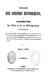 Messager des sciences historiques de Belgique