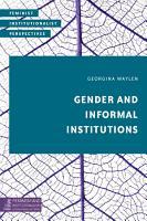 Gender and Informal Institutions PDF