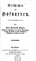 Geschichte der hofnarren PDF