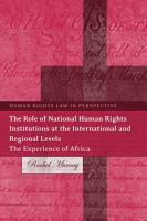 The Role of National Human Rights Institutions at the International and Regional Levels PDF