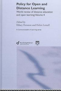 Policy for Open and Distance Learning Book