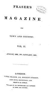 Fraser's Magazine: Volume 2