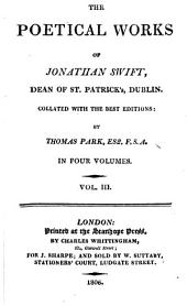 The Poetical Works of Jonathan Swift, ...: Collated with the Best Editions: