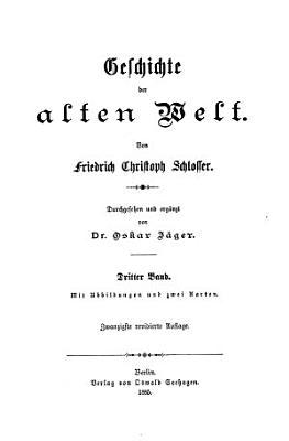 Geschichte der alten welt PDF