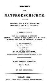 Archiv für Naturgeschichte: Band 18