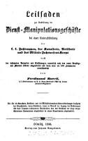 Leitfaden zur Ausbildung im Dienst Manipulationsgesch  fte bei einer Unterabtheilung     PDF