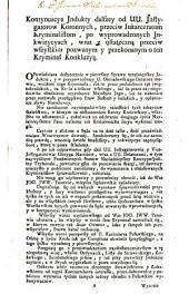 Kontynuacya indukty dalszey od ... instygatorow koronnych, przeciw inkarceratom kryminalistom, po wyprowadzonych inkwizycyach: Volume 6