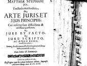 Tractatio meth. de arte iuris et eius principiis