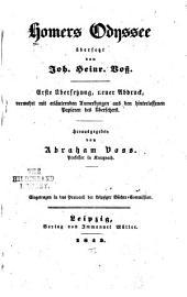 Homers Odyssee Übersetzt von Joh. Heinr. Voss