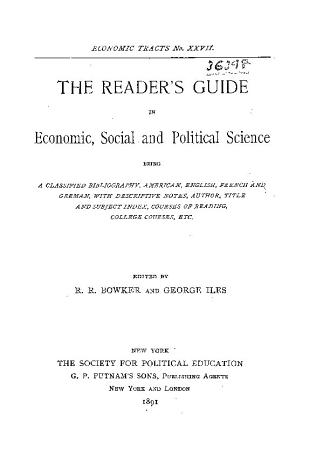 The Reader s Guide in Economic  Social and Political Science PDF