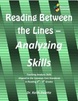 Reading Between the Lines  Analyzing Skills PDF
