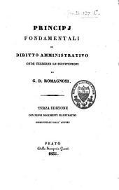 Principi fondamentali di diritto amministrativo onde tesserne le instituzioni