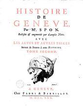 Histoire de Genève: Volume2
