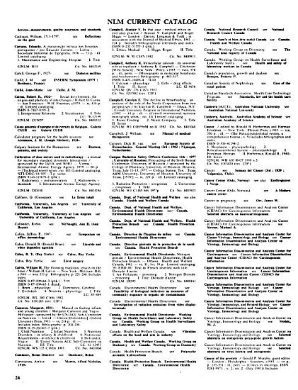 National Library of Medicine Current Catalog PDF