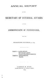 Official Documents, Comprising the Department and Other Reports Made to the Governor, Senate, and House of Representatives of Pennsylvania: Volume 4