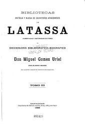 Bibliotecas antigua y nueva de escritores aragoneses: Volumen 3