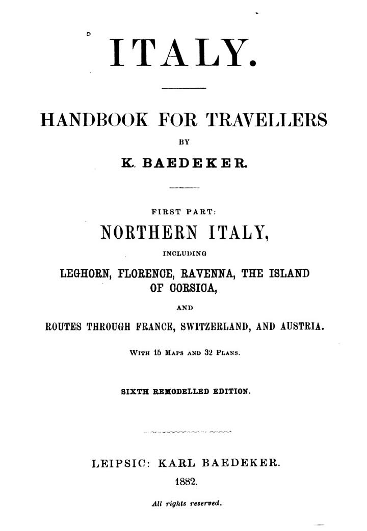 Baedeker's Northern Italy
