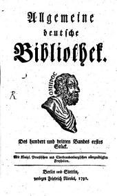 Allgemeine deutsche Bibliothek: Band 103