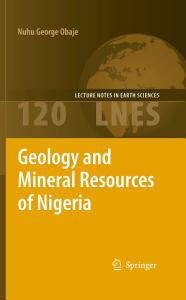 Geology and Mineral Resources of Nigeria Book