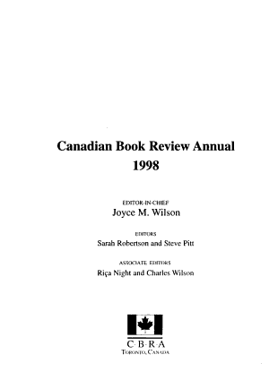 Canadian Book Review Annual