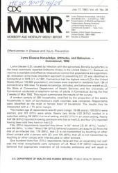 Morbidity and Mortality Weekly Report: MMWR, Volume 41, Issue 28